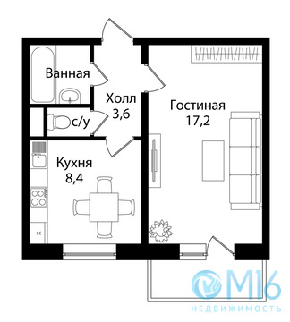 Однокомнатная квартира во Всеволожске - Фото 2