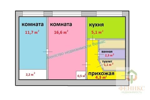 Двухкомнатная квартира, 44 кв.м.Васильевский остров, ул.Шевченко, дом 32 - Фото 2