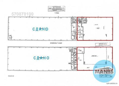 Этаж - 1 Отделка – полы: бетон Планировка – склад 1-го этажа 800 кв - Фото 5