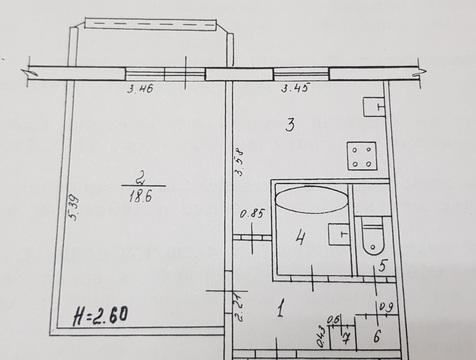 1-к квартира, 39,1 м2, (+лоджия)1/9 эт. - Фото 1