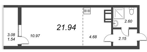 Продам студию. Воронцовский б-р к.А-Г, Купить квартиру Мурино, Всеволожский район по недорогой цене, ID объекта - 318417918 - Фото 1