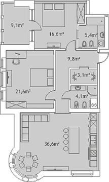 406 600 €, Продажа квартиры, Lpla iela, Купить квартиру Рига, Латвия по недорогой цене, ID объекта - 311839478 - Фото 1