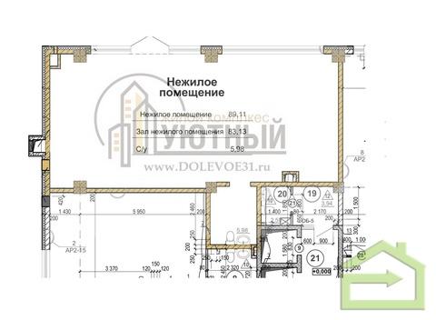 """Помещения на первом этаже в ЖК """"Уютный"""" на улице Чапаева, 14 - Фото 1"""