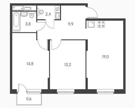 Объявление №50046587: Квартира 2 комн. Обнинск, ул. Курчатова, к3,