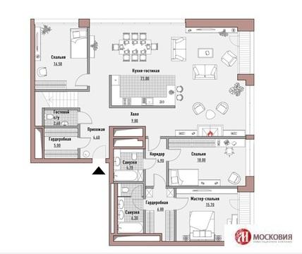 Четырехкомнатная квартира. Клубный дом. Камин. Терраса. Центр Москвы - Фото 1