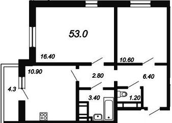 Квартира с хорошей отделкой. Дом сдан. спб. Окна во двор на сев.восток - Фото 1