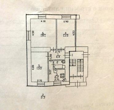 Уютная 3ккв в кирпичном доме с высокими потолками - Фото 2