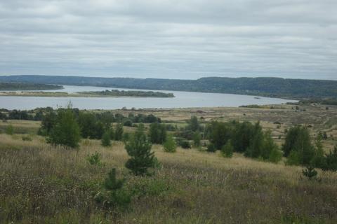 Земельный участок с видом на Волгу 25 км. от Н.Новгорода - Фото 1