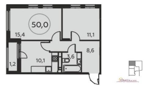 Продам 2-к квартиру, Коммунарка п, жилой комплекс Москва а101 к18 - Фото 1