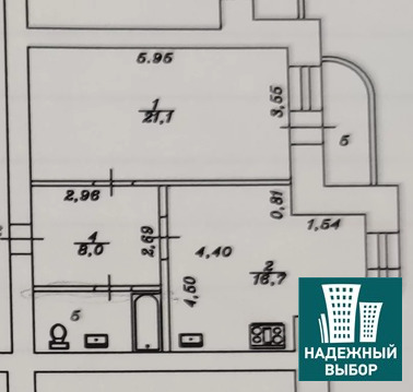 Объявление №65279716: Продаю 1 комн. квартиру. Тюмень, ул. 50 лет Октября, д. 1а,
