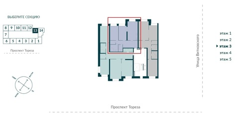 Продается двухкомнатная квартира комфорт класса в ЖК Сосновка - Фото 2
