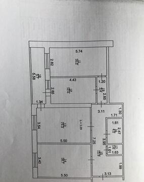 Квартира 92 кв.м. 4/6 кирп на Аланлык, д.47 - Фото 2