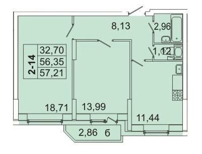 Продам 2к. квартиру. Кондратьевский пр-кт, д.58 к.1-1 - Фото 1