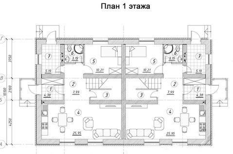 Дуплекс 122.5 кв.м. на участке 3.5 соток в Раменском р-не - Фото 5