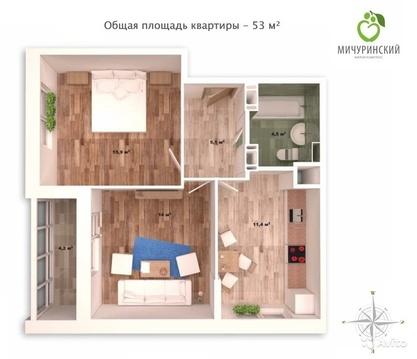 Уютная 2-шка в новом доме с ремонтом! - Фото 3