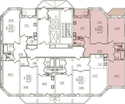 3 х комнатная квартира Ногинск г, Черноголовская 7-я ул, 17 - Фото 3