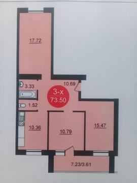 Продается 3-комнатная квартира в новостройке
