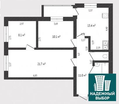 Объявление №65165263: Продаю 3 комн. квартиру. Тюмень, ул. Малышева, д. 14,