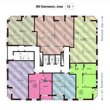 Улица Балмочных С.Ф. 14а; 3-комнатная квартира стоимостью 5350000р. . - Фото 5