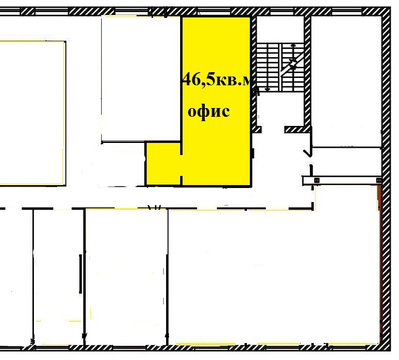 Сдаётся офис на 3 этаже в ТЦ - 46,5 кв.м, ул. Полтавская