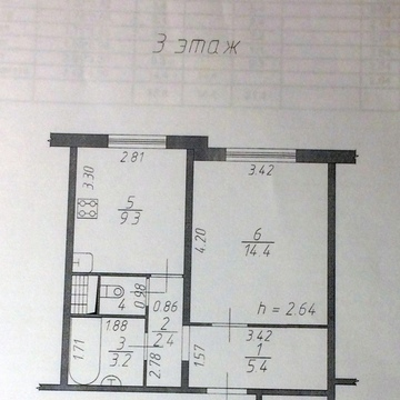 1 комнатная квартира, бульвар 65 летия победы д.14 - Фото 1