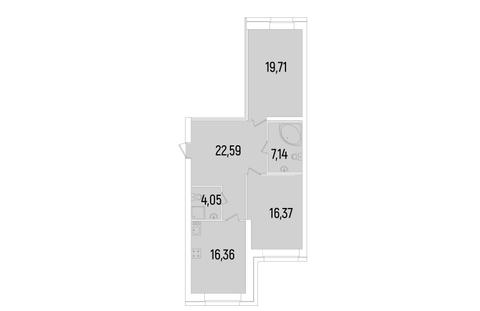 Продается двухкомнатная квартира в ЖК Сосновка - Фото 3