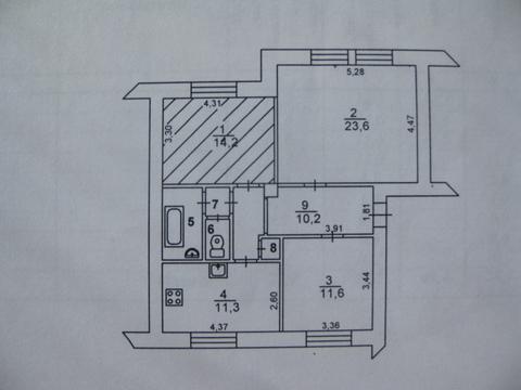 Продаётся 3-комнатная квартира, г. Лыткарино, ул. Первомайская, д. 16 - Фото 1
