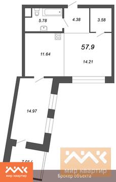Продается 1к.кв, Аптекарский пр-кт., Купить квартиру в новостройке от застройщика в Санкт-Петербурге, ID объекта - 327237393 - Фото 1