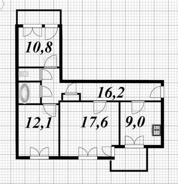 Продажа 3-х комнатной квартиры по цене 1-но комнатной - Фото 1