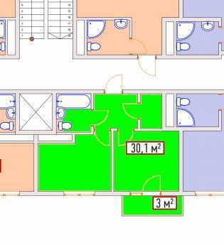 Адлер, 33,1кв.м. Кургородок, Купить квартиру в Сочи по недорогой цене, ID объекта - 321582814 - Фото 1