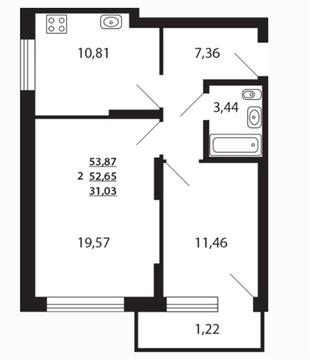 Палитра 5.2 16 этаж 53.87 2к - Фото 4