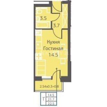 Продается 1-комнатная студия квартира, г.Пермь, ул.Уинская 68 - Фото 2
