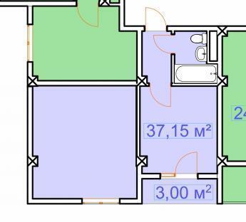 Сочи, ул. Каспийская, 40,15кв.м. недалеко Олимпийский парк, Купить квартиру в Сочи по недорогой цене, ID объекта - 321581894 - Фото 1