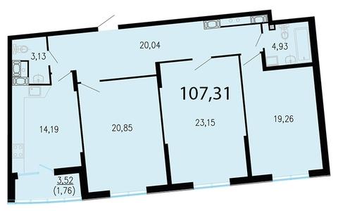 Продам 3к. квартиру. Жукова ул. к.2.2, Купить квартиру в Санкт-Петербурге по недорогой цене, ID объекта - 318417238 - Фото 1