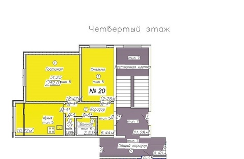 """2 к.кв. г. Подольск, ЖК """"Европа"""", д. 5, Купить квартиру в Подольске по недорогой цене, ID объекта - 321412698 - Фото 1"""