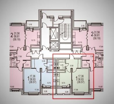 Продаётся видовая 1-комнатная квартира в строящейся новостройке. - Фото 3