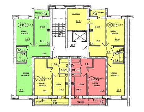 Продажа 2-комнатной квартиры, 49.3 м2, Березниковский переулок, д. 34 - Фото 2