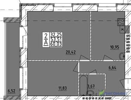 """2-х комнатная квартира в строящемся доме ЖК """"Ивушка"""" - Фото 5"""