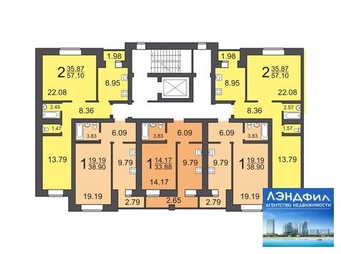 1 комнатная квартира, Романтикова, 46 А - Фото 4
