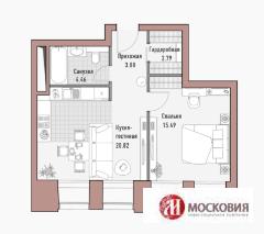 1 комн. квартира в элитном доме клубного формата, Москва - Фото 2