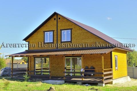 Алопово. Новый дом с панорамными окнами, теплым полом, 200 м от озера. - Фото 2