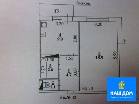 Однокомнатная квартира: с.Вербилово, Плеханова улица, д.25а - Фото 2