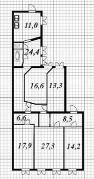 Продажа просторной 5- комн. квартиры в центре Санкт-Петербурга - Фото 3