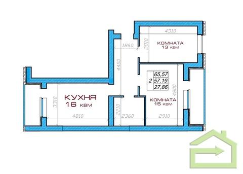 Двухкомнатная квартира в мкрне Центральный в Северном - Фото 5