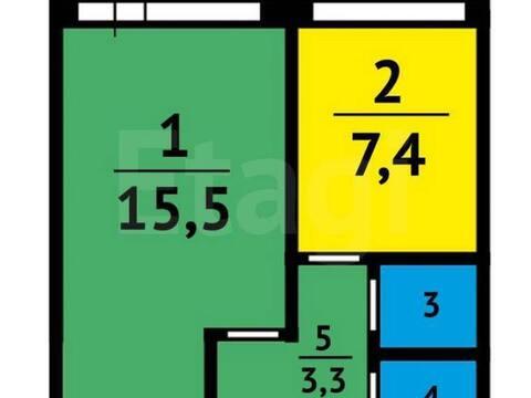 1 680 000 Руб., Продажа однокомнатной квартиры на Московском проспекте, 13а в Кемерово, Купить квартиру в Кемерово по недорогой цене, ID объекта - 319828731 - Фото 1