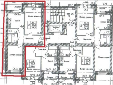 Продажа двухкомнатной квартиры в новостройке на улице Кривошеина, ., Купить квартиру в Воронеже по недорогой цене, ID объекта - 320573792 - Фото 1