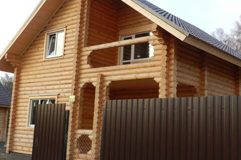 Дом с участком по Киевскому шоссе из бревна 8-10 соток Вишневый сад - Фото 1