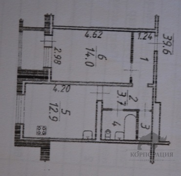 1 кв, Покровский б-р, д.2, 40 кв.м. - Фото 5