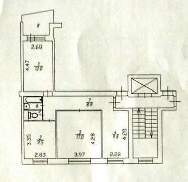 3-комн.квартира в пос. Поведники, санаторно-курортная зона - Фото 1
