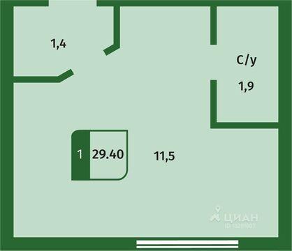 2 500 000 Руб., 1-к кв. Тюменская область, Тюмень ул. Беляева, 35к2 (29.4 м), Купить квартиру в Тюмени, ID объекта - 334203137 - Фото 1